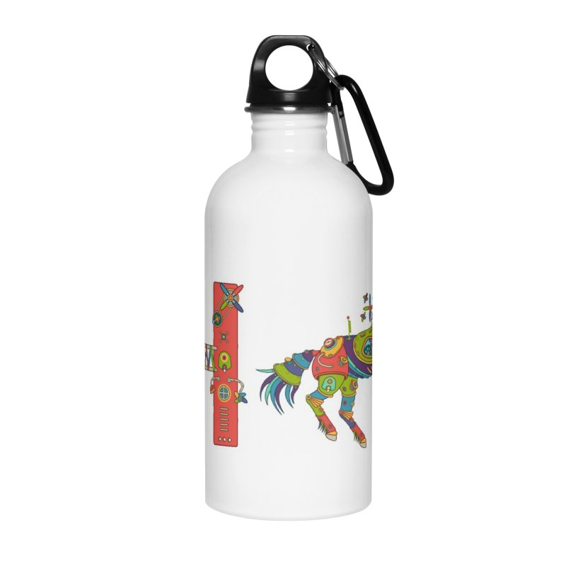Horse, cool art from the AlphaPod Collection Accessories Water Bottle by AlphaPod
