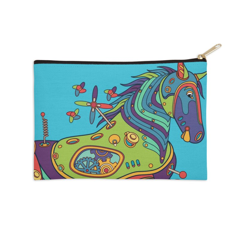 Horse, cool art from the AlphaPod Collection Accessories Zip Pouch by AlphaPod