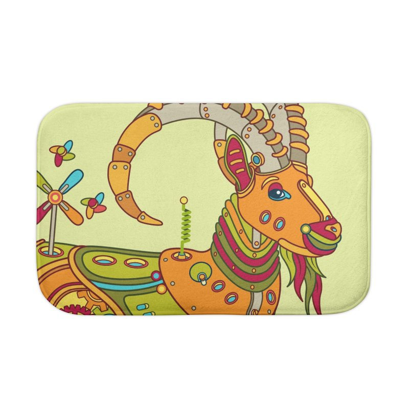 Ibex, cool art from the AlphaPod Collection Home Bath Mat by AlphaPod