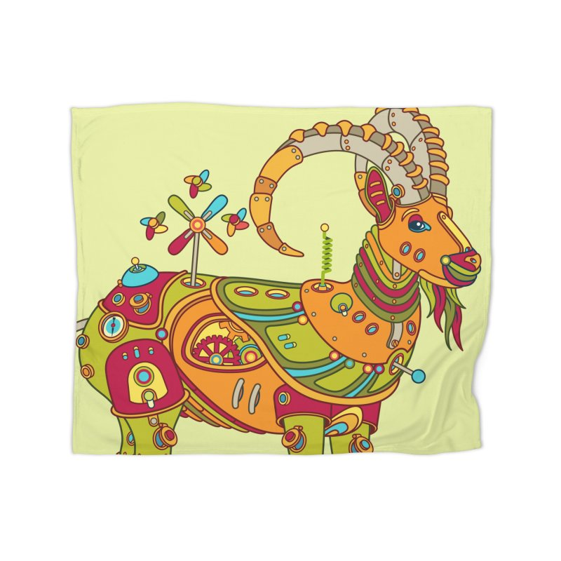 Ibex, cool wall art for kids and adults alike Home Blanket by AlphaPod