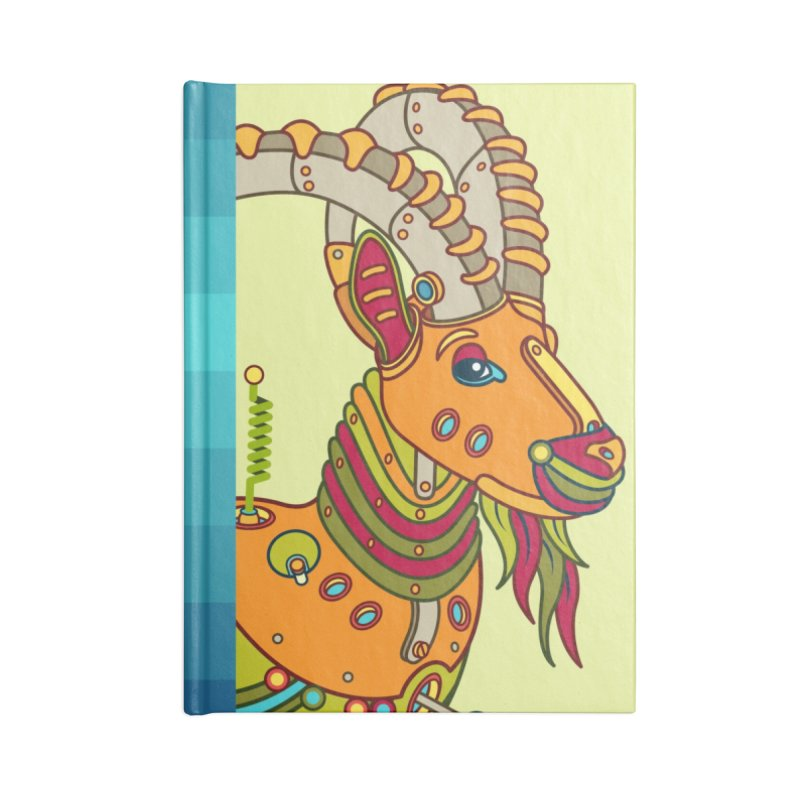 Ibex, cool art from the AlphaPod Collection Accessories Lined Journal Notebook by AlphaPod