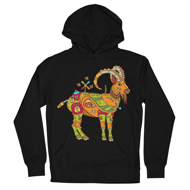 Ibex, cool art from the AlphaPod Collection Women's French Terry Pullover Hoody by AlphaPod