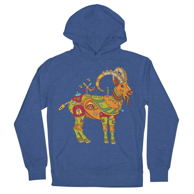 Ibex, cool art from the AlphaPod Collection Men's French Terry Pullover Hoody by AlphaPod