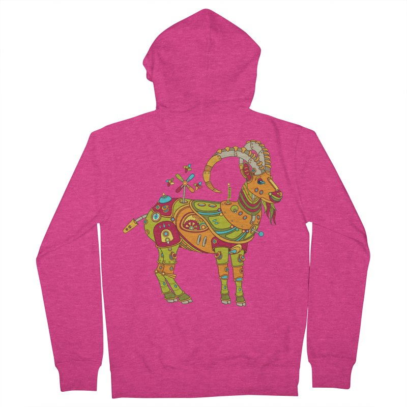 Ibex, cool art from the AlphaPod Collection Women's Zip-Up Hoody by AlphaPod