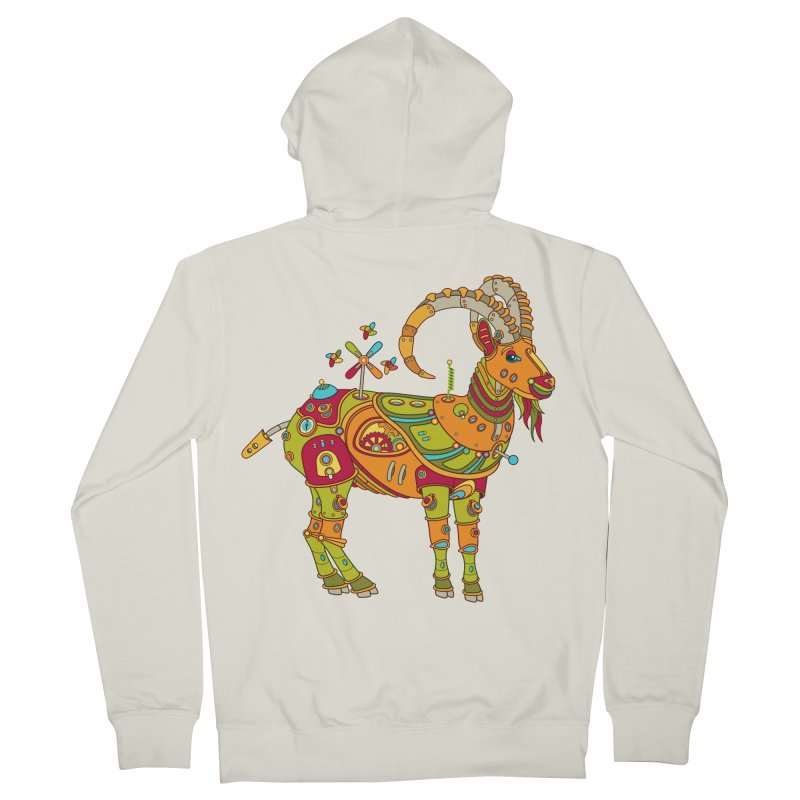 Ibex, cool art from the AlphaPod Collection Women's French Terry Zip-Up Hoody by AlphaPod