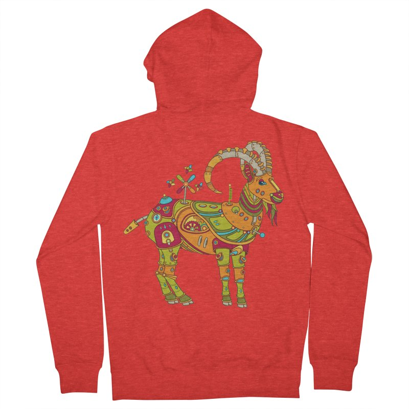 Ibex, cool art from the AlphaPod Collection Men's Zip-Up Hoody by AlphaPod