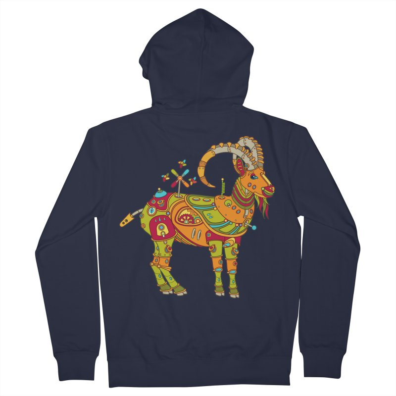 Ibex, cool art from the AlphaPod Collection Men's French Terry Zip-Up Hoody by AlphaPod