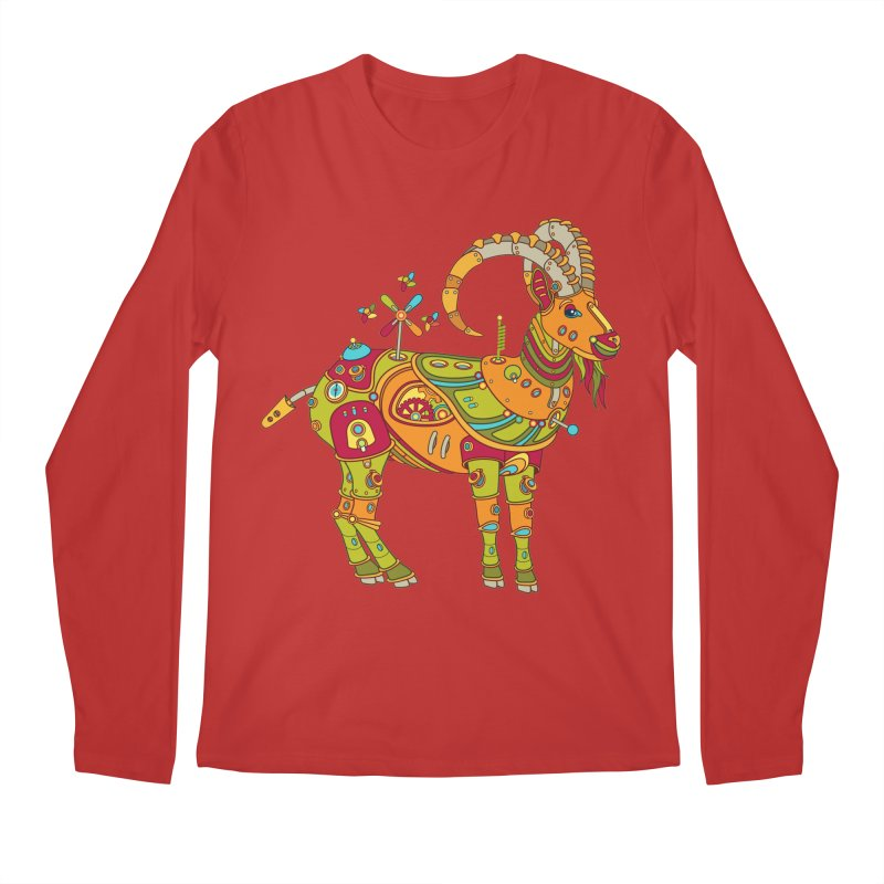 Ibex, cool art from the AlphaPod Collection Men's Regular Longsleeve T-Shirt by AlphaPod