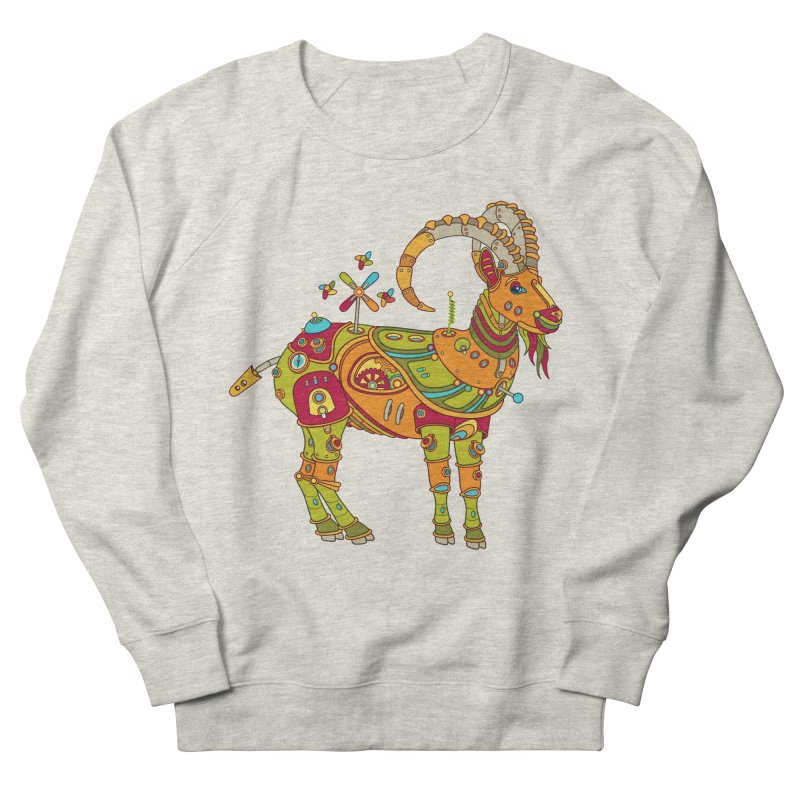 Ibex, cool art from the AlphaPod Collection Women's French Terry Sweatshirt by AlphaPod