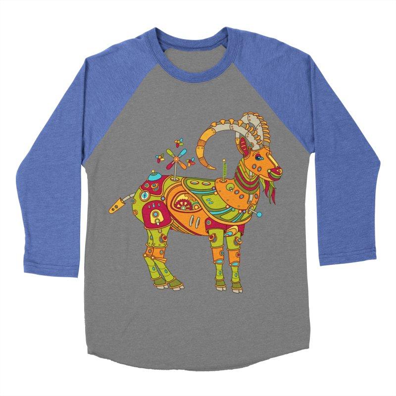Ibex, cool art from the AlphaPod Collection Men's Baseball Triblend Longsleeve T-Shirt by AlphaPod