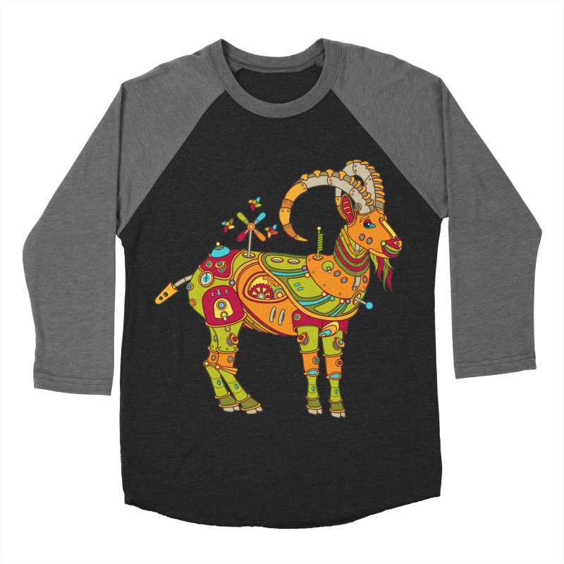Ibex, cool art from the AlphaPod Collection Men's Baseball Triblend Longsleeve T-Shirt by AlphaPod