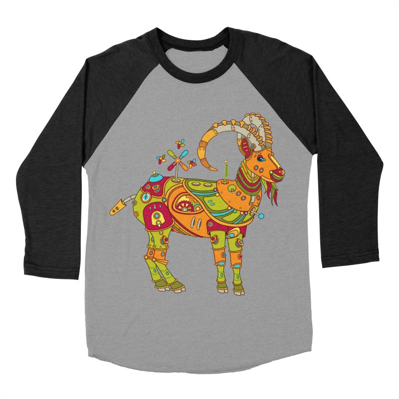 Ibex, cool art from the AlphaPod Collection Men's Baseball Triblend T-Shirt by AlphaPod