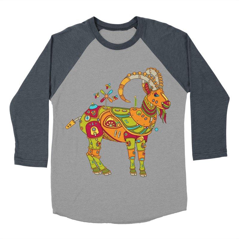 Ibex, cool wall art for kids and adults alike Men's Baseball Triblend T-Shirt by AlphaPod
