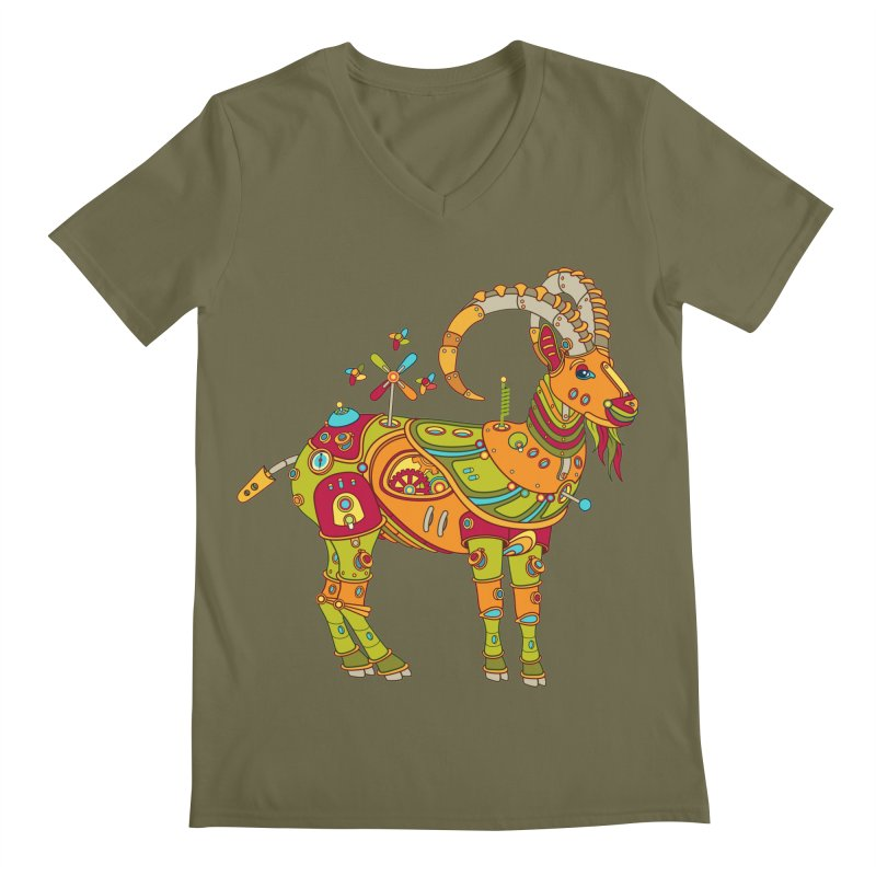 Ibex, cool art from the AlphaPod Collection Men's V-Neck by AlphaPod