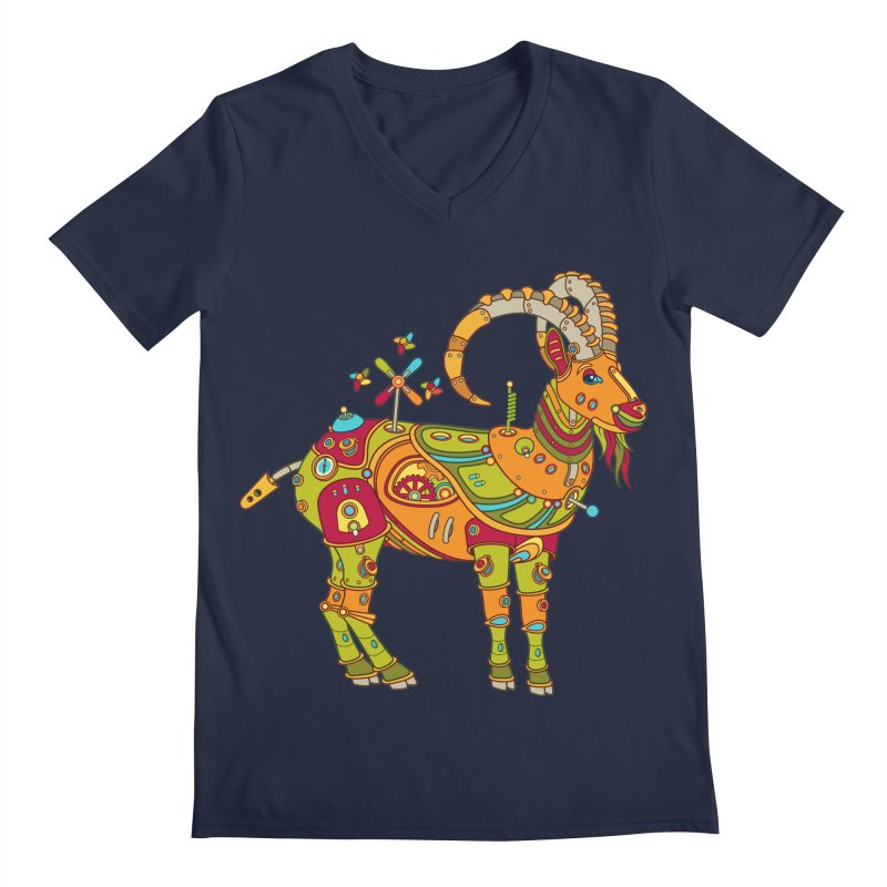 Ibex, cool wall art for kids and adults alike Men's V-Neck by AlphaPod