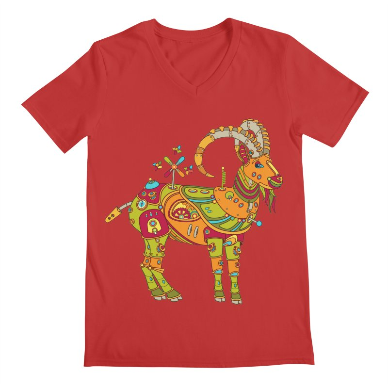 Ibex, cool art from the AlphaPod Collection Men's Regular V-Neck by AlphaPod