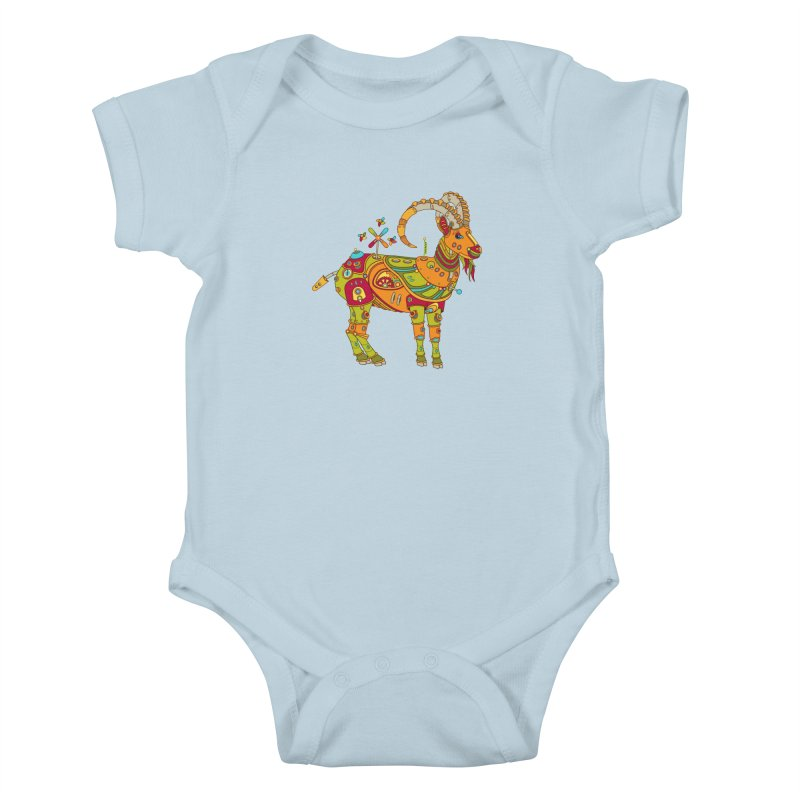 Ibex, cool art from the AlphaPod Collection Kids Baby Bodysuit by AlphaPod