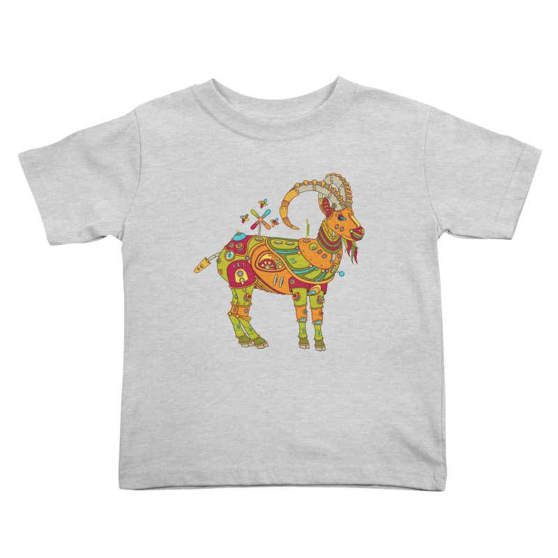 Ibex, cool art from the AlphaPod Collection Kids Toddler T-Shirt by AlphaPod