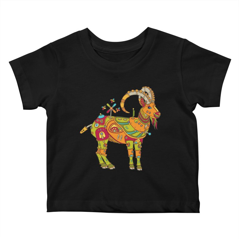 Ibex, cool wall art for kids and adults alike Kids Baby T-Shirt by AlphaPod