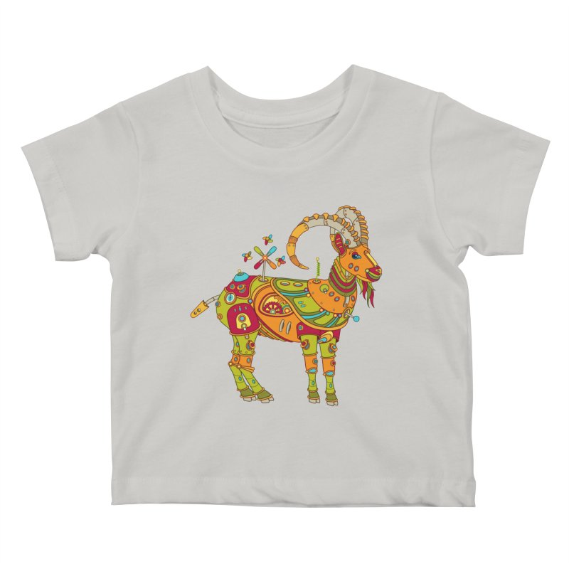 Ibex, cool art from the AlphaPod Collection Kids Baby T-Shirt by AlphaPod