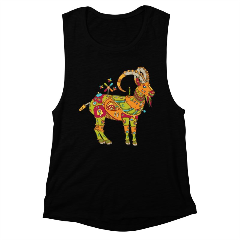 Ibex, cool art from the AlphaPod Collection Women's Muscle Tank by AlphaPod