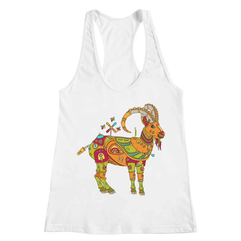 Ibex, cool art from the AlphaPod Collection Women's Racerback Tank by AlphaPod