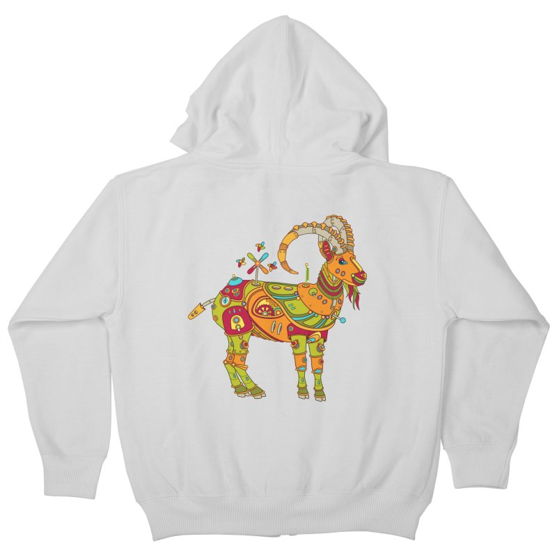 Ibex, cool art from the AlphaPod Collection Kids Zip-Up Hoody by AlphaPod