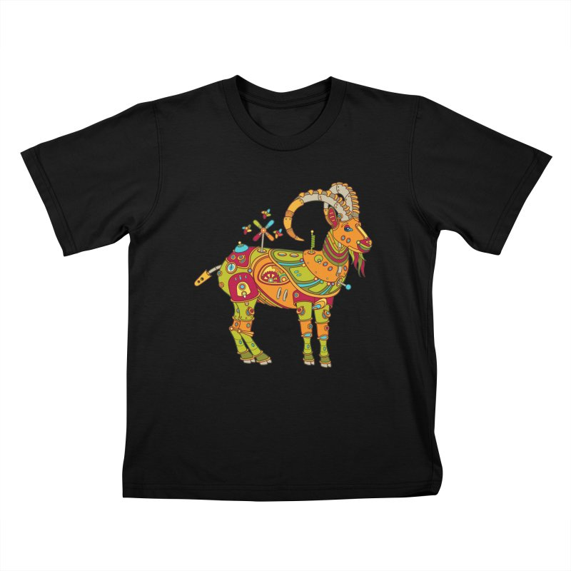 Ibex, cool art from the AlphaPod Collection Kids T-Shirt by AlphaPod