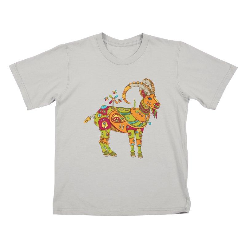 Ibex, cool wall art for kids and adults alike Kids T-shirt by AlphaPod