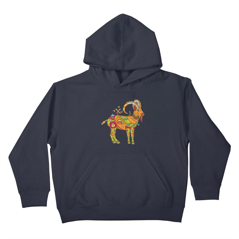 Ibex, cool art from the AlphaPod Collection Kids Pullover Hoody by AlphaPod