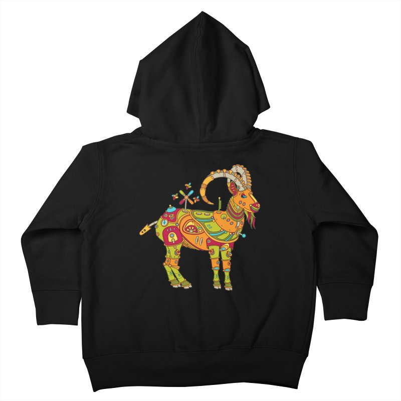 Ibex, cool art from the AlphaPod Collection Kids Toddler Zip-Up Hoody by AlphaPod