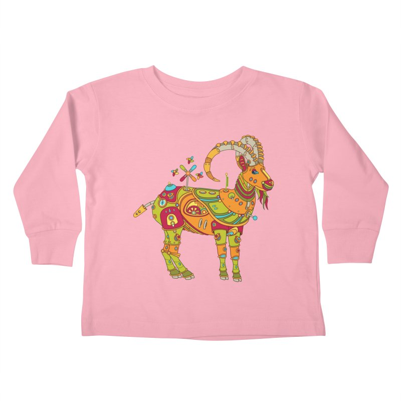 Ibex, cool art from the AlphaPod Collection Kids Toddler Longsleeve T-Shirt by AlphaPod