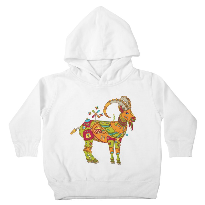Ibex, cool art from the AlphaPod Collection Kids Toddler Pullover Hoody by AlphaPod