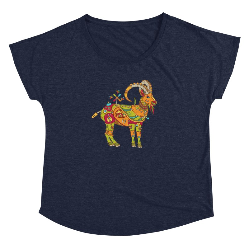 Ibex, cool art from the AlphaPod Collection Women's Dolman Scoop Neck by AlphaPod