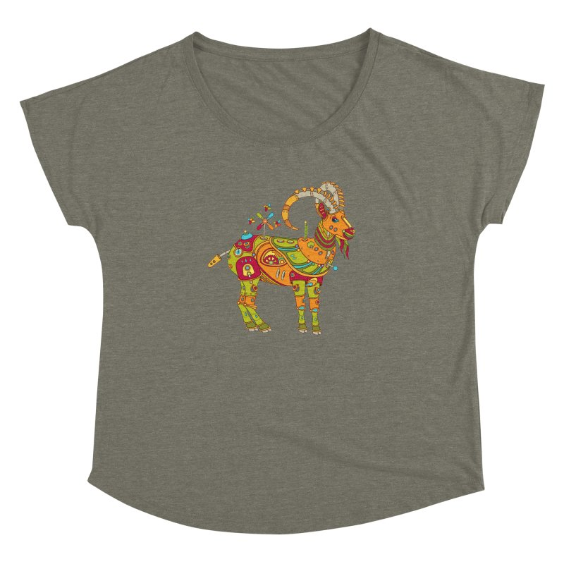 Ibex, cool art from the AlphaPod Collection Women's Dolman by AlphaPod