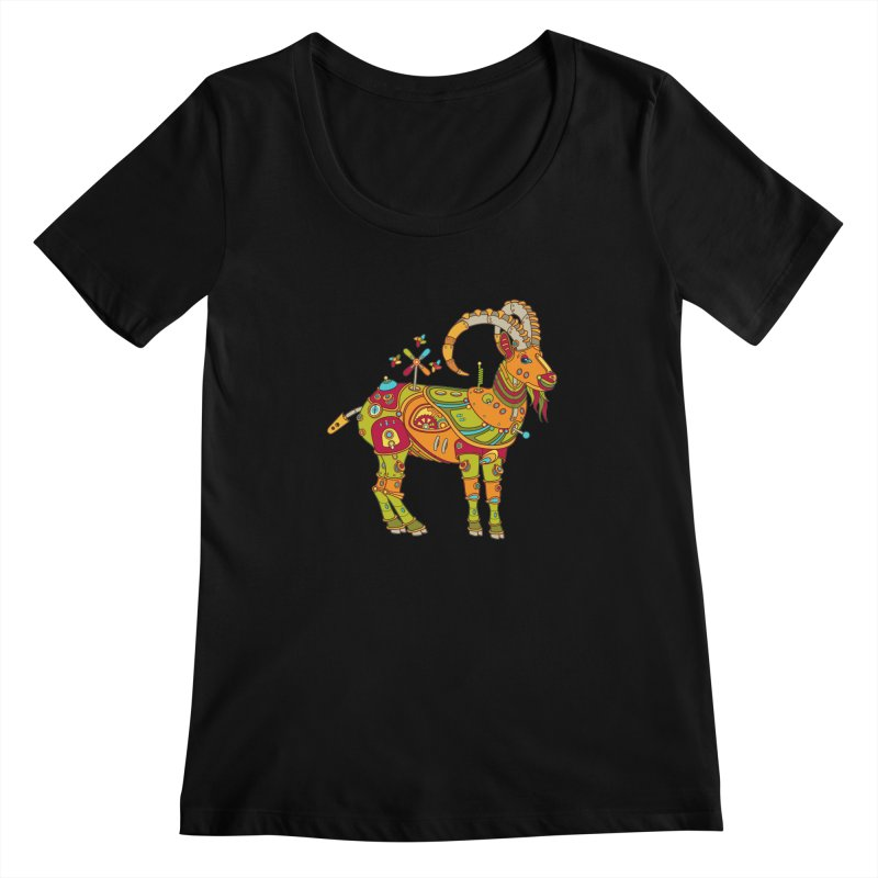 Ibex, cool art from the AlphaPod Collection Women's Regular Scoop Neck by AlphaPod