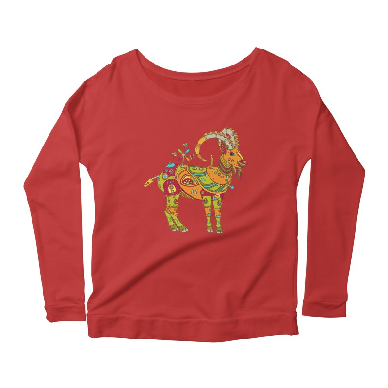 Ibex, cool art from the AlphaPod Collection Women's Longsleeve Scoopneck  by AlphaPod