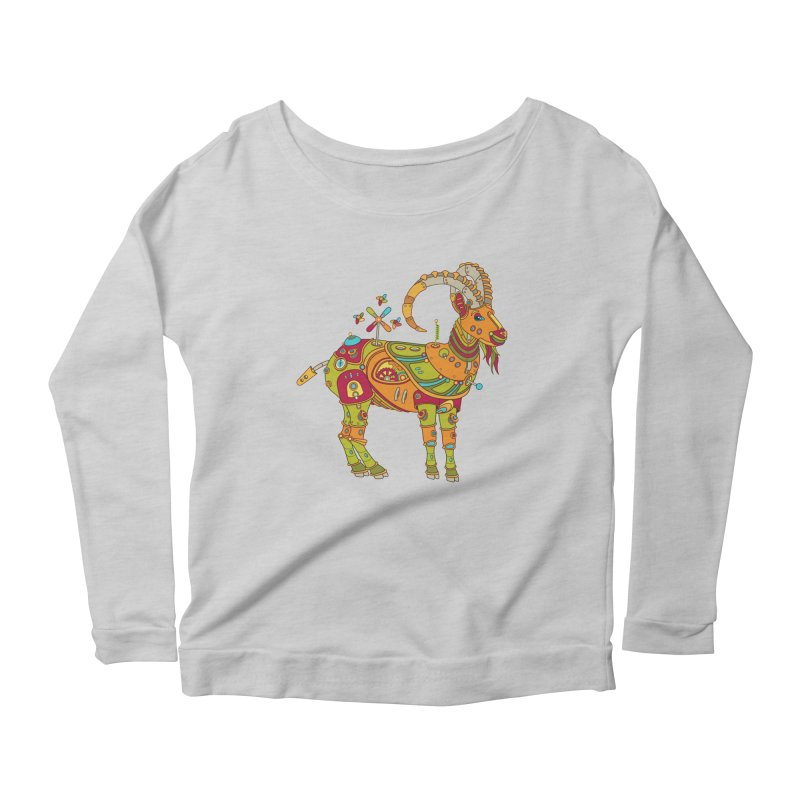 Ibex, cool art from the AlphaPod Collection Women's Scoop Neck Longsleeve T-Shirt by AlphaPod