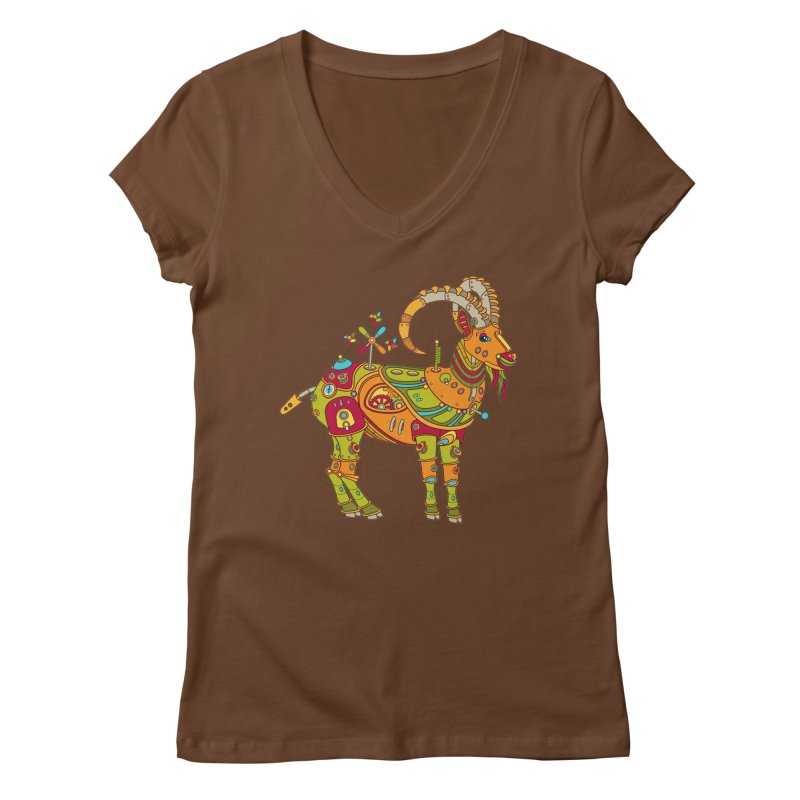 Ibex, cool art from the AlphaPod Collection Women's Regular V-Neck by AlphaPod
