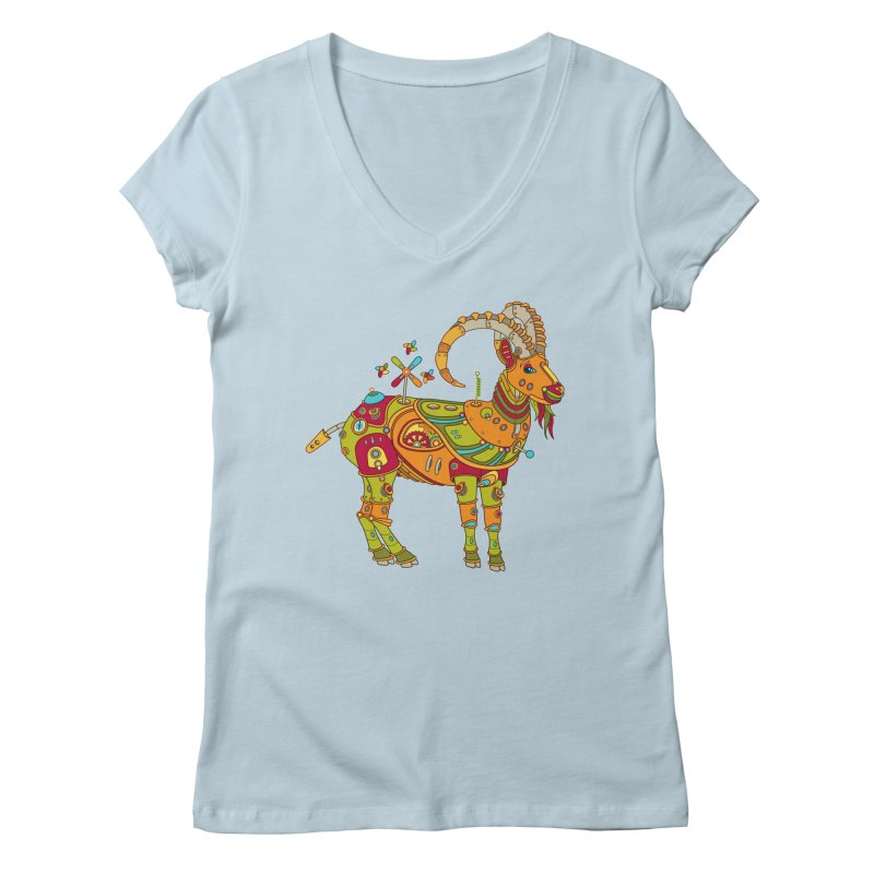 Ibex, cool art from the AlphaPod Collection Women's V-Neck by AlphaPod