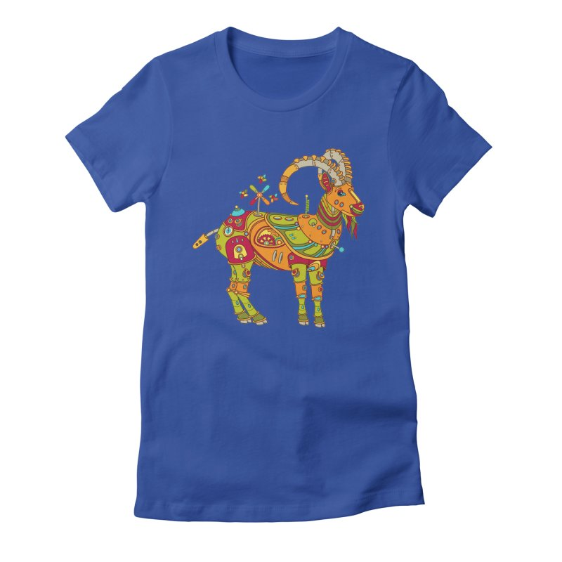 Ibex, cool art from the AlphaPod Collection Women's Fitted T-Shirt by AlphaPod