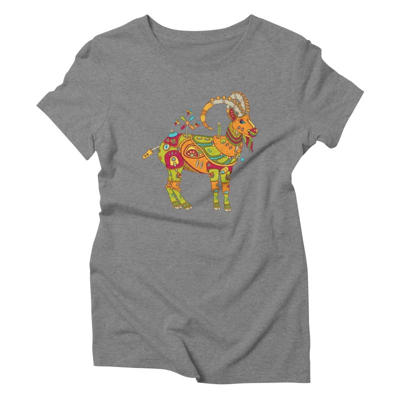 Ibex, cool art from the AlphaPod Collection Women's Triblend T-Shirt by AlphaPod