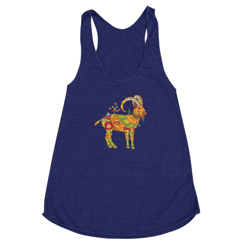 Ibex, cool art from the AlphaPod Collection Women's Racerback Triblend Tank by AlphaPod