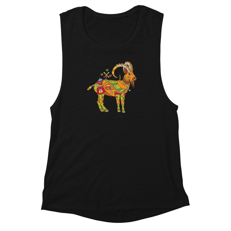 Ibex, cool wall art for kids and adults alike Women's Muscle Tank by AlphaPod
