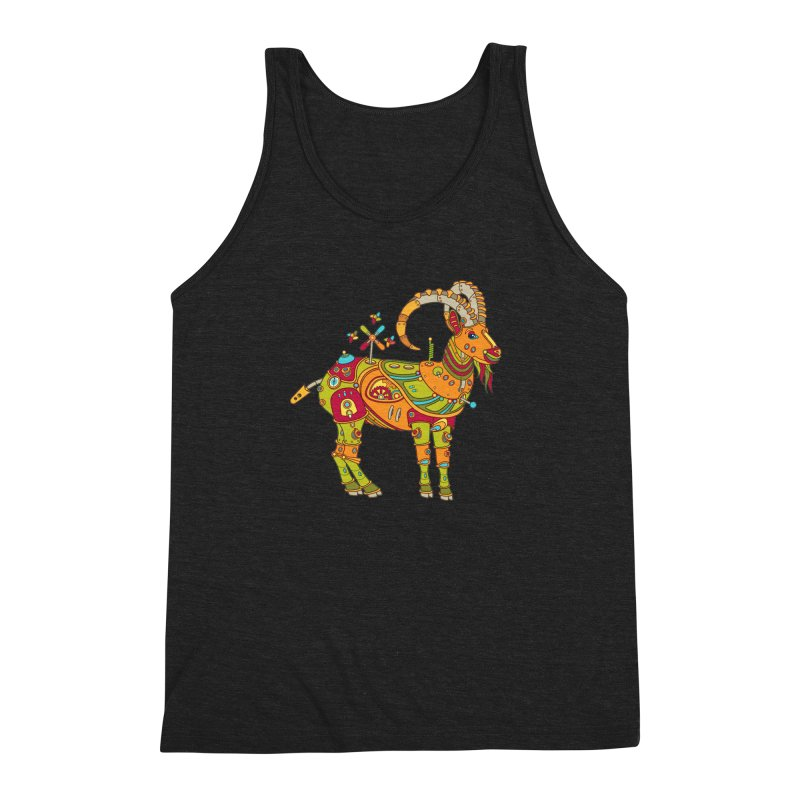 Ibex, cool art from the AlphaPod Collection Men's Triblend Tank by AlphaPod