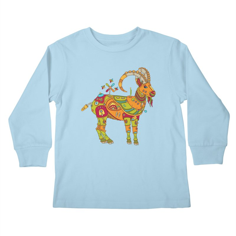 Ibex, cool art from the AlphaPod Collection Kids Longsleeve T-Shirt by AlphaPod