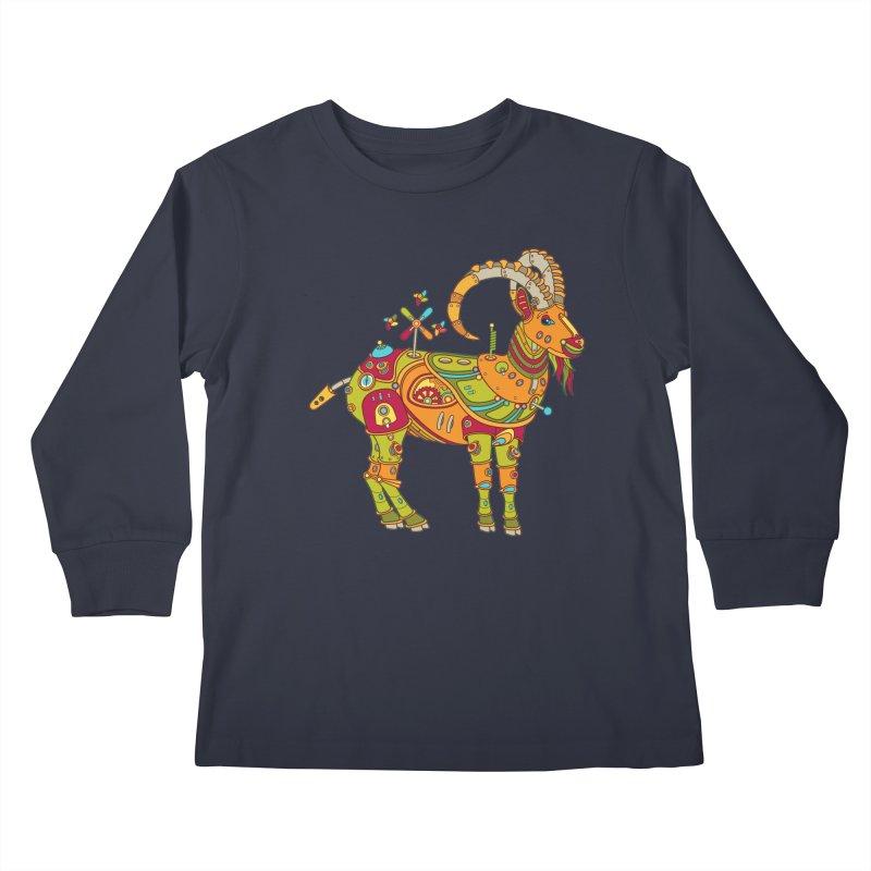 Ibex, cool wall art for kids and adults alike Kids Longsleeve T-Shirt by AlphaPod