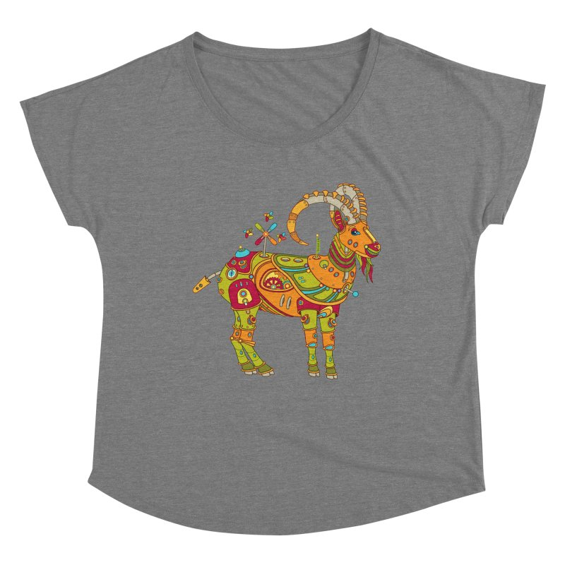 Ibex, cool art from the AlphaPod Collection Women's Scoop Neck by AlphaPod