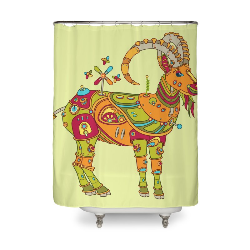 Ibex, cool art from the AlphaPod Collection Home Shower Curtain by AlphaPod