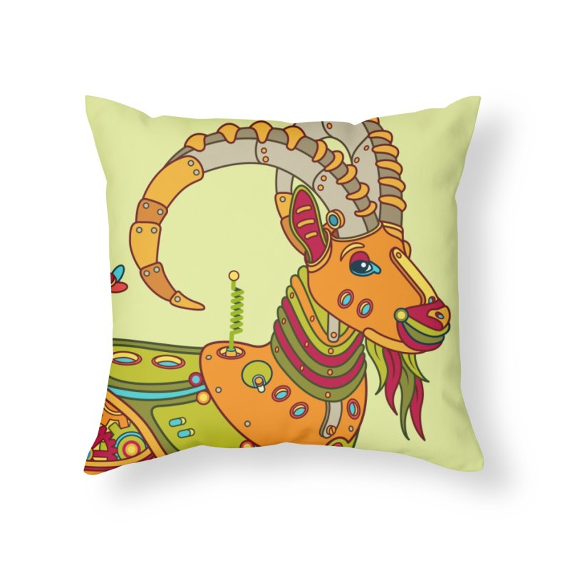 Ibex, cool art from the AlphaPod Collection Home Throw Pillow by AlphaPod